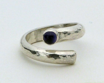 Amethyst Wrap Ring in Sterling Silver Size 5