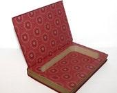 Hollow Book Safe Christmas Eve on Lonesome Cloth Bound vintage Secret Compartment Keepsake Box Hidden Security Box