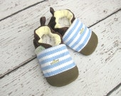 Classic Vegan Row Your Boat / Non-Slip Soft Sole Baby Shoes / Made to Order / Babies Toddlers Preschool