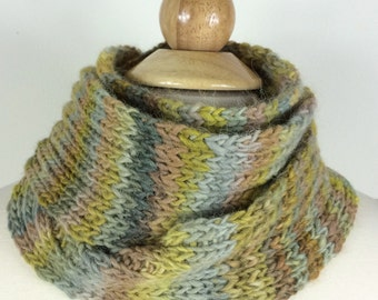 Hand Knit Scarf - WOODLAND