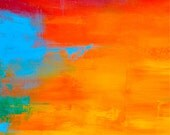 Rainbow 2 - Fine Art Print from Original Abstract painting on canvas