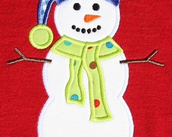 550 Snowman 2 Machine Embroidery Applique Design