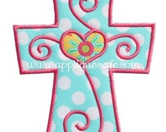 469 Cross 3 Machine Embroidery Applique Design