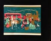 Vintage Holiday Christmas Greeting Card Set - TRAIN  Lot of 6