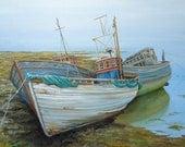 Beach Decor,  Seascape, gift for him,  Fine Art Giclee Print, Artwork, Ships, Wall Art, Boat painting, Home Decor