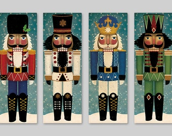 NUTCRACKER Stretched Canvas Wall Art Ready-To-Hang stretched 10x30x1.5 Inches Signed