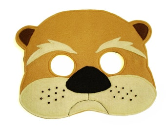 Children's Woodland Animal OTTER Felt Mask