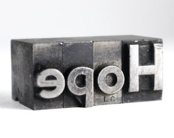 HOPE - 48pt Vintage Metal Letterpress