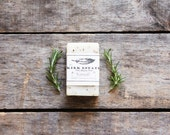 Rosemary // small bar // handmade soap // cold process soap // all natural soap // lightly scented // herbal soap // vegan soap