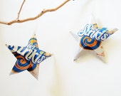 Diet Sunkist Orange Soda Stars Christmas Ornaments Soda Can Upcycled