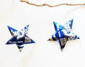 Blue Sky Natural Soda Stars Christmas Ornaments  Soda Can Upcycled