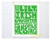 Wall Art, Irish, Irish Sign, Irish Eyes, Irish Laughter, Spring Trends, Kitchen Art Print, Mother's Day,  St Patrick's Day