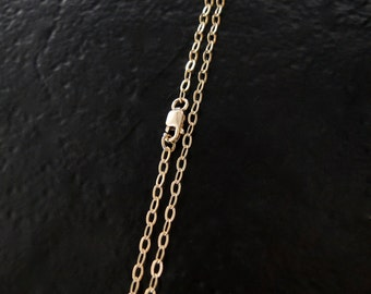30 Inch 14K Gold Filled 2.3mm Cable Chain With Lobster Clasp