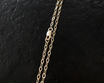 ANY LENGTH 14K Gold Filled 2.3mm Cable Chain With Lobster Clasp, Made in USA/Italy