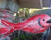 Decorative Fish - Handmade - Wood - Wooden Fish - Garden Art - Home Decor - Group of Five Fish