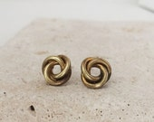 Vintage | Deadstock | Tiny Studs | Brass Knot Earrings | E110017
