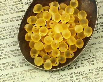 Matte Light Topaz Fringe Beads or Beads plus Jump Rings  - Make Shaggy Bracelets, Earrings, Bracelets and make them Shimmer - 100% Guarantee