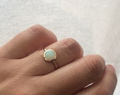 Opal Ring, Gold Opal Ring, Opal Engagement Ring, Opal Bezel Ring, Modern Engagement Ring, Engagement Ring, Birthstone Ring, Opal, Birthstone