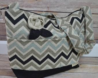 Camera Bag  Dslr, Chevron linen  Black, Khaki & aqua / Waterproof womens camera purse / Padded  Insert / Messenger / by Darby Mack, in stock