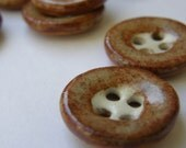 Nutmeg Ceramic Buttons