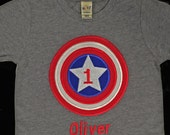 Personalized CAPTAIN AMERICA Birthday Shirt - Any Age by Sprinkles of Love