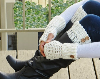 Cozy Crochet Boot Cuffs and Fingerless Gloves