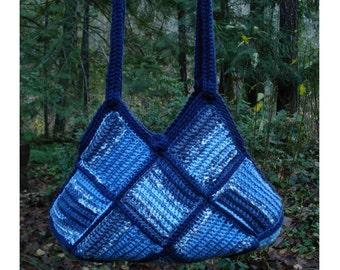 Crochet Pattern PDF – Patchwork Squares Bag – PA-216