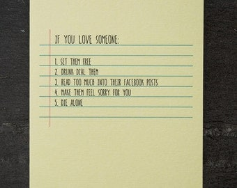 love. letterpress card. #656