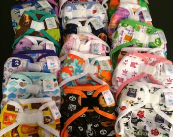 Mystery Diaper Cover - Print PUL Waterproof Cloth Diaper Covers Choose Size, Gender, and Closure