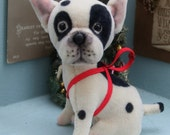 miniature french bulldog Christmas tree decoration 3. inch