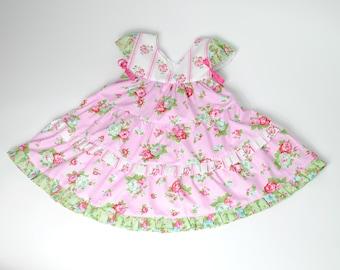 Girl's Dress, Toddler Dress, Flower Girl Dress, Birthday dress, Party dress, pink, dress size 18 mos 2/3  4/5 6/7