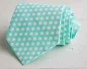men's mint dot necktie