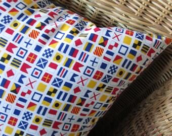 Nautical Signal Flags Classic Handmade Decorative Pillow