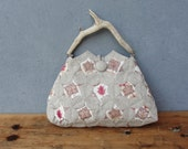 Woodland Bag, Window Quilting and Orinuno with Vintage Linen and Driftwood, A Walk in the Woods