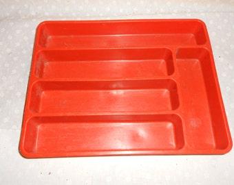 Sliverware tray Brunt orange Max Klein