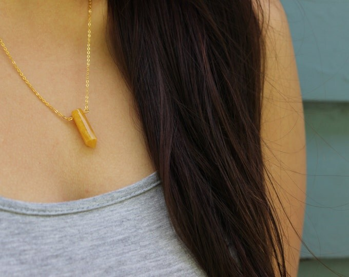Citrine Crystal Necklace.