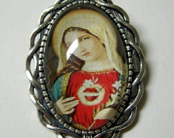 Immaculate heart brooch/pin - BR10-019