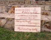 Be Thou My Vision, barnwood sign, beautiful hymn