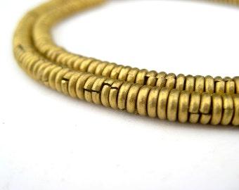 Sale -  Kenya Brass Heishi Beads - African Brass Beads - Jewelry Making Supplies - Made in Kenya ** (MET-HSHI-BRS-308)