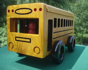 Colored and Naturel School Bus