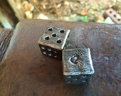 Steel customized six sided dice (Sold as a pair) - hand forged