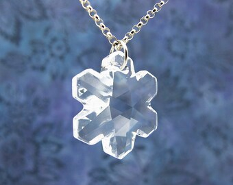 Swarovski Snowflake Necklace, Crystal Snowflake Necklace, Snowflake Pendant, Winter Jewelry, Gift for Her, Snowflake Jewelry