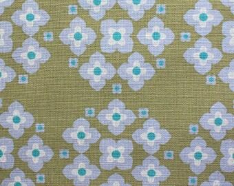 1 yard - Hydrangea in Olive Green from Garden collection by Ellen Baker, Kokka Fabric, Japanese import