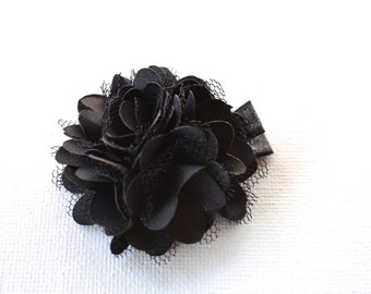 Black glower hair clips, girls hair clip, toddler hair clip, flower hair clip, baby hair clip, hair accessories for girls, flower girl hair