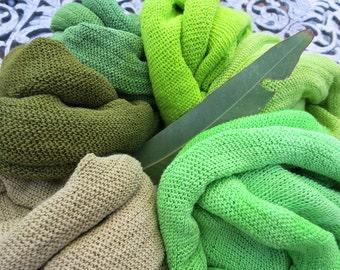 5 Summer Headband Headwraps Bright Green Cotton single colors - Choose any 5 Light Midi wraps