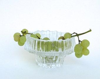 mid century design  ...   vintage iittala finland   ...   glass bowl