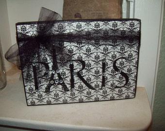 Black and white PARIS sign Paris decor,shabby chic,Paris bedroom decor,FRENCH bedroom ,Paris wall decor,French wall decor,Eiffel Tower