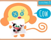 Cow PDF Pattern & Tutorial - Felt Plush Cow DIY