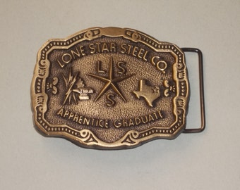 Retro Lone Star Belt Buckle / MINT