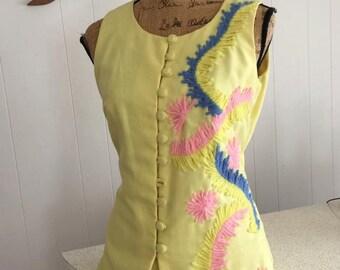 Tiki Oasis 1960's Ladies Two Piece Leisure Outfit!  Size S-M -- So Fabulous!